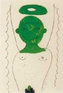 Lithograph Dokoupil - Angelito