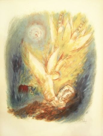 Lithograph Rubin - Angels – From the Portfolio Visions of the Bible