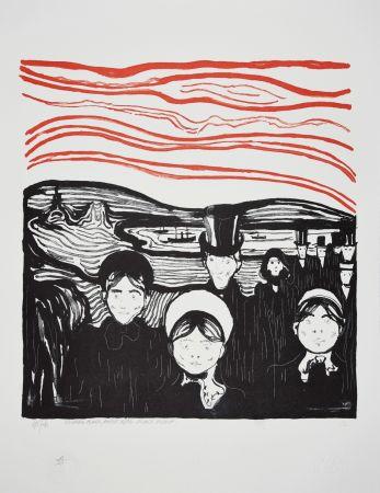 Lithograph Munch - ANGST / ANXIETE 1896