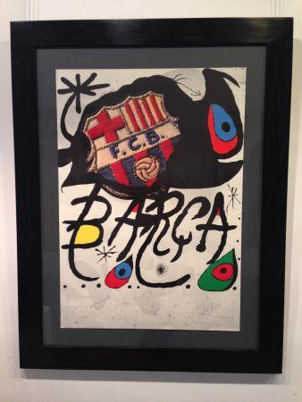 Lithograph Miró - Aniversario F.c. Barcelona