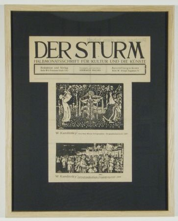Woodcut Kandinsky - Ankunft Der Kaufleute (1903), Aus Dem Album Xylographies (1907)