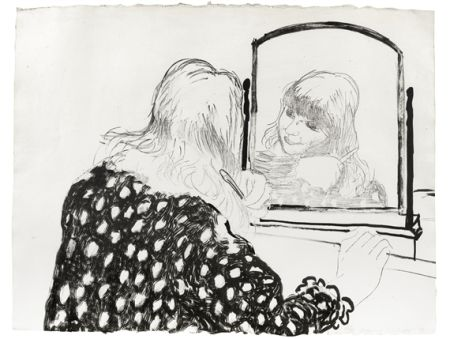 Lithograph Hockney - Ann Combing Her Hair
