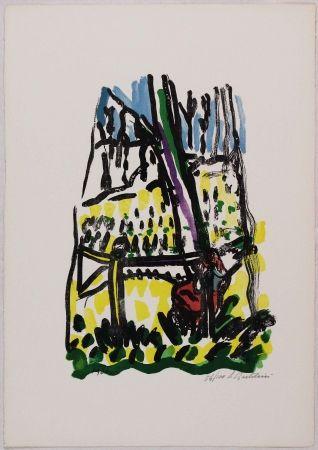 Lithograph Bartolini - Anna nei boschi