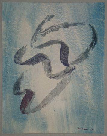 Lithograph Fautrier - Annabelle nue
