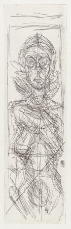 Etching Giacometti - Annette de face