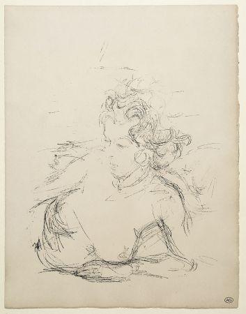Lithograph Giacometti - ANNETTE (de la suite