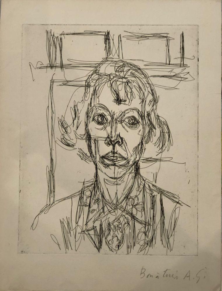 Engraving Giacometti - Annette III