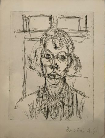 Engraving Giacometti - Annette III