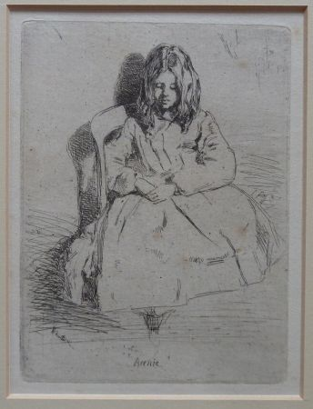 Etching Whistler - Annie seated