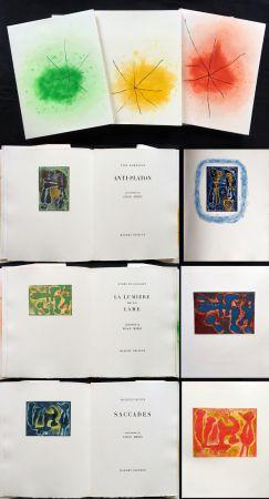 Illustrated Book Miró - ANTI-PLATON - LA LUMIÈRE DE LA LAME - SACCADES (Yves Bonnefoy, André Du Bouchet, Jacques Dupin (1962)