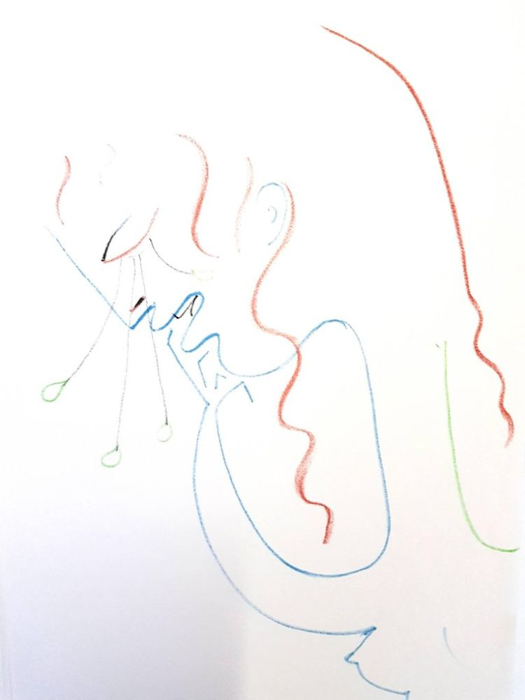 Lithograph Cocteau - Antigone