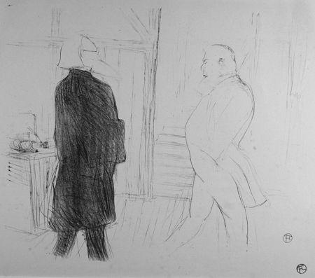 Lithograph Toulouse-Lautrec - Antoine et Gémier, dans une Faillite
