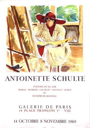 Lithograph De Segonzac - Antoinette  Schulte  Galerie de Paris
