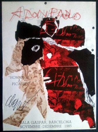 Poster Clavé - Antoni Clavé - A Don Pablo - Sala Gaspar 1985