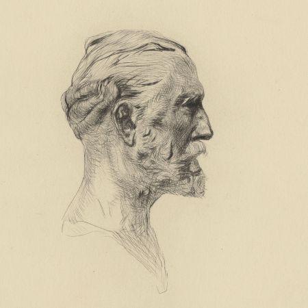 Drypoint Rodin - Antonin Proust