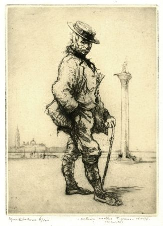 Engraving Chahine - Antonio Vecchio Tiziano, Venise