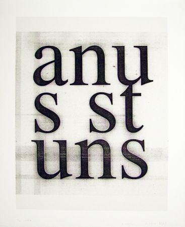 Screenprint Wool - Anus Stuns