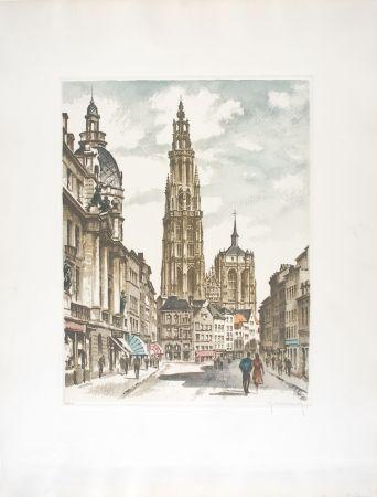 Engraving Hebbelinck - Anvers : Suikerrui