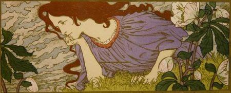 Lithograph Grasset - Anxiété