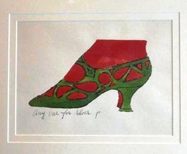 Lithograph Warhol - Anyone for Shoes - A La Recherche Du Shoe Perdu