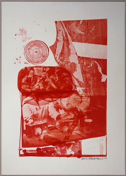 No Technical Rauschenberg - Ape, from Stoned Moon