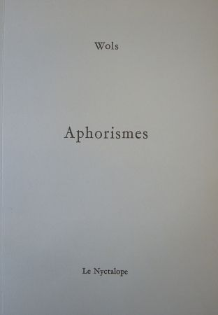 Illustrated Book Wols - Aphorismes