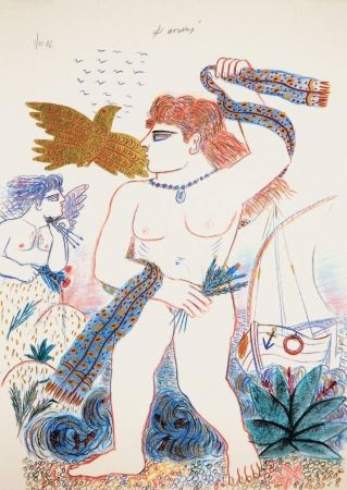 Lithograph Fassianos - Aphrodite