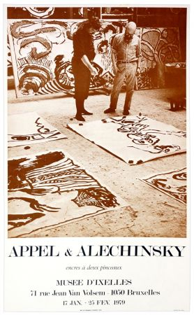 Poster Alechinsky - Appel & Alechinsky, encres à deux pinceaux, 1979