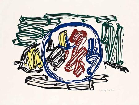 Woodcut Lichtenstein - Apple and Lemon