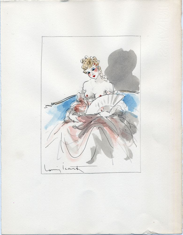 No Technical Icart - AQUARELLE ORIGINALE POUR LA NUIT ET LE MOMENT (1946)
