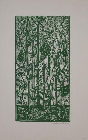Woodcut Gosen (Von) - Aquarium