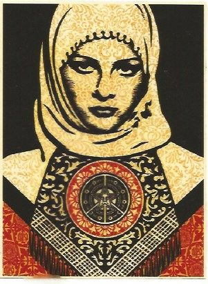 Screenprint Fairey - Arab woman