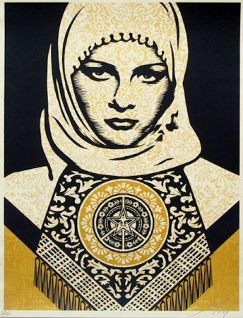Screenprint Fairey - Arab Woman (Gold)