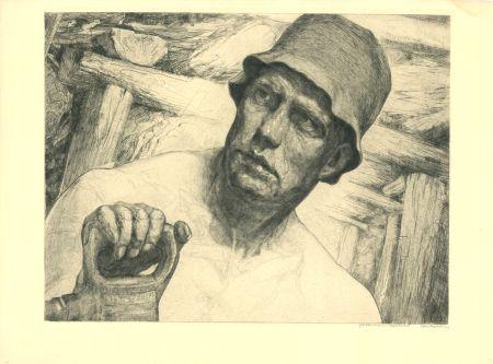Etching Kätelhön - Arbeiter / Worker