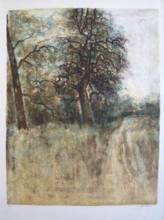 Lithograph Gantner - Arbre
