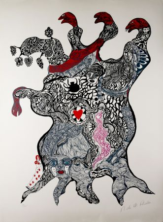 Screenprint De Saint Phalle - Arbre aux Serpents