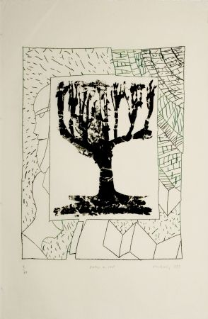 Etching And Aquatint Alechinsky - Arbre central, au vert