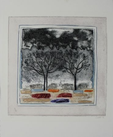 Etching And Aquatint Louttre - Arbre mon frère