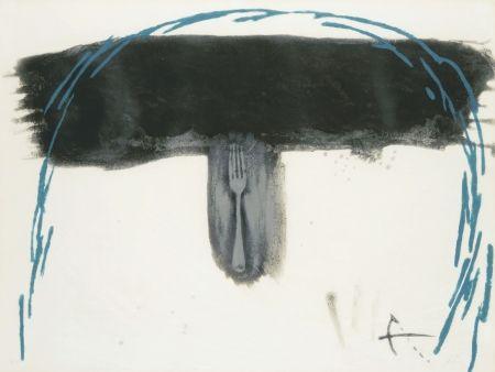 Engraving Tàpies - Arc blau (Blauer Bogen)