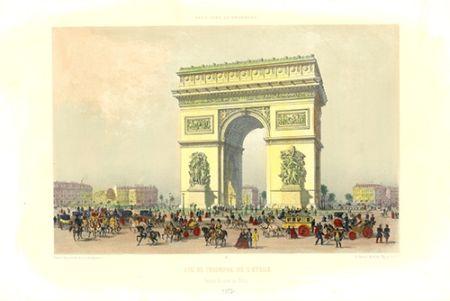 Lithograph Benoist - Arc de Triomphe de l'Etoile