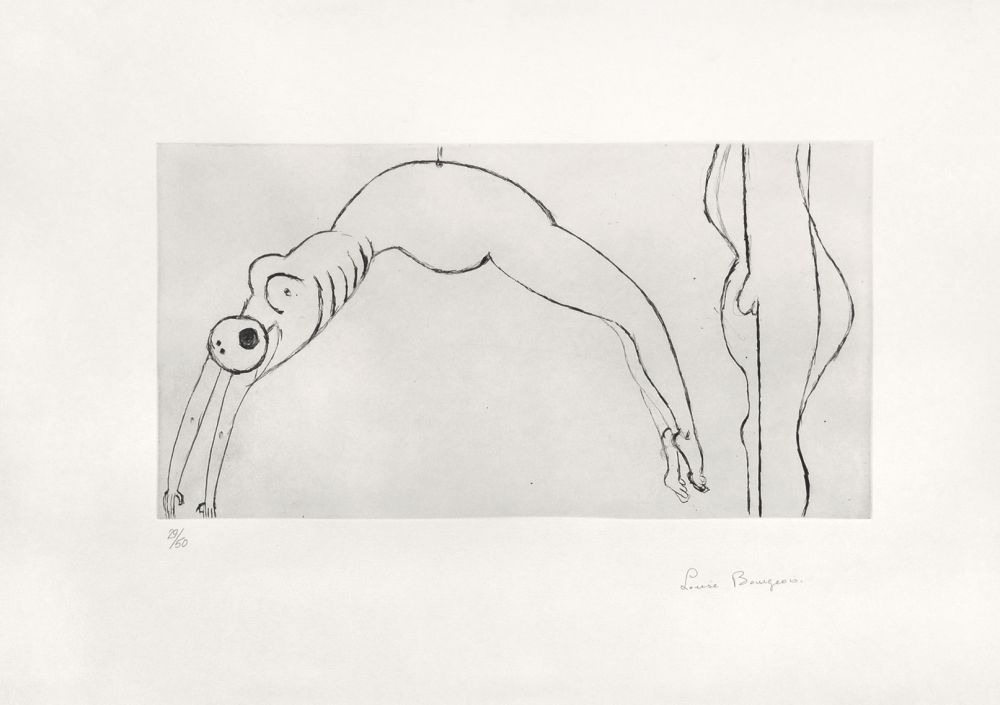 Etching Bourgeois - Arched figure