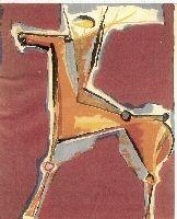 Lithograph Marini - Arciere Viola