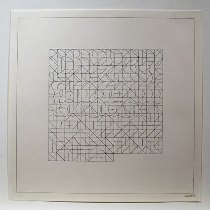 Etching Lewitt - Arcs and Lines