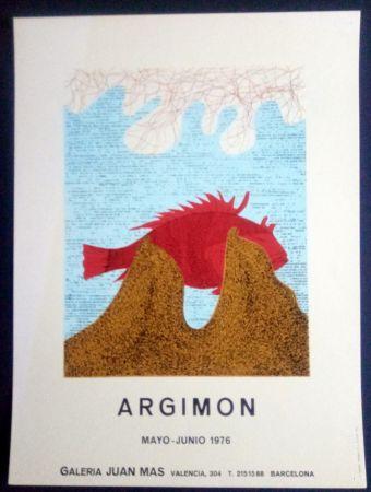 Poster Argimon - ARGIMON - MAYO JUNIO 1976 - GALERIA JUAN MAS