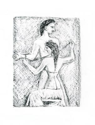 Lithograph Campigli - Arianna I (Theseus)