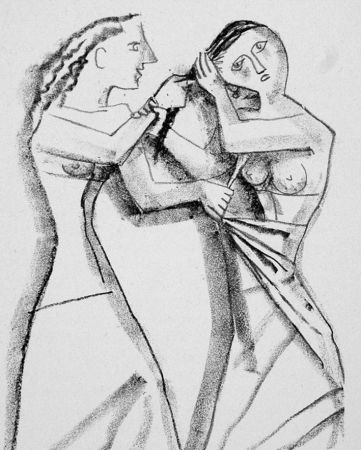 Lithograph Campigli - Arianna II