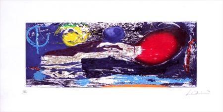 Woodcut Frankenthaler - Ariel (1996)