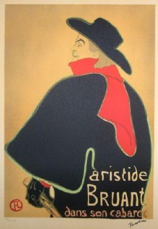 Lithograph Toulouse-Lautrec - Aristide Bruant