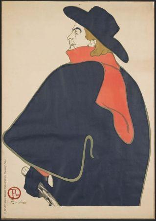 Lithograph Toulouse-Lautrec - Aristide Bruant dans son cabaret