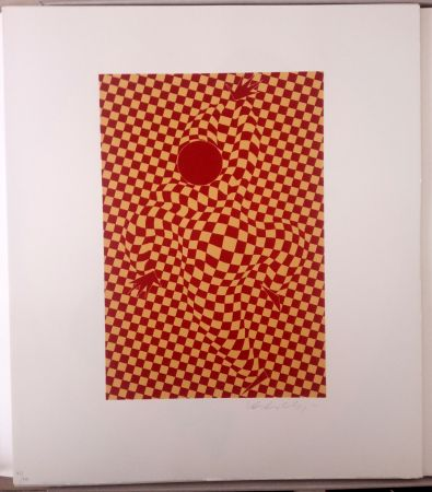 Lithograph Vasarely - Arlequin